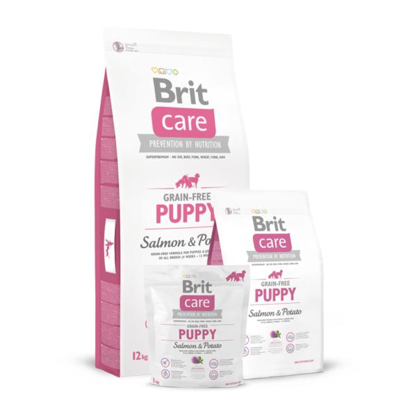 Brit Care Puppy Salmon & Potato sausas maistas šuniukams