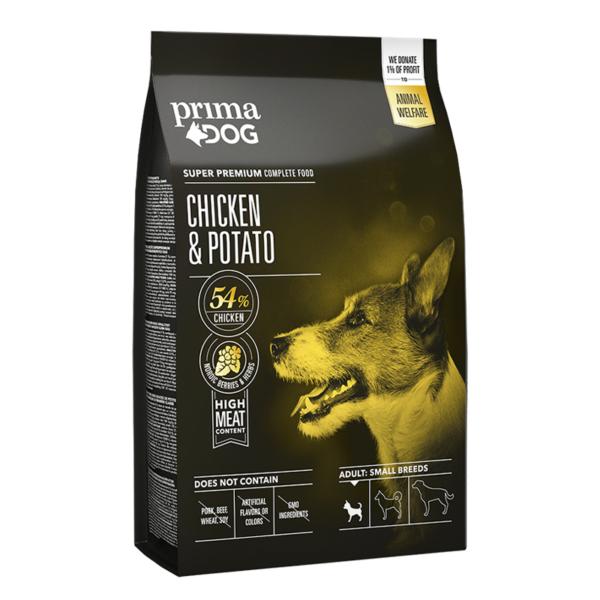 PrimaDog vištiena - bulvės mažų veislių suaugusiems šunims