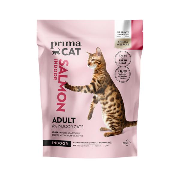 PrimaCat sausas maistas suaugusioms katėms gyvenančioms namuose su lašiša