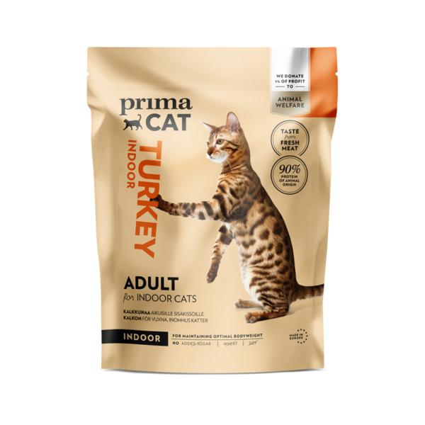 PrimaCat sausas maistas suaugusioms katėms gyvenančioms namuose su kalakutiena