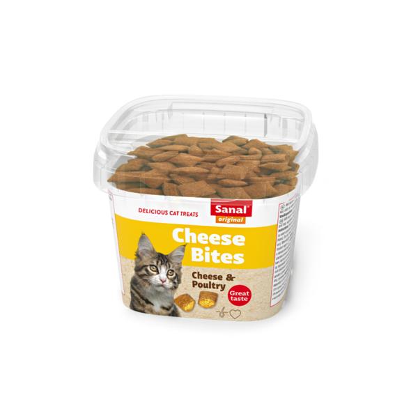Sanal Cheese Bites Cup pašaro papildas katėms