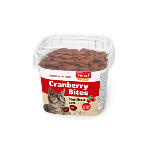 Sanal Cranberry & Chicken Cup pašaro papildas katėms