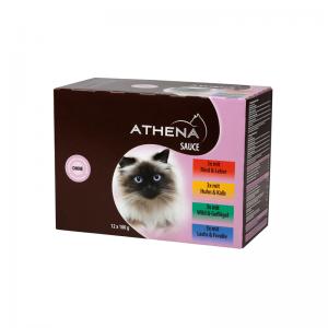 Athena guliašas padaže suaugusioms katėms 12 x 100 g