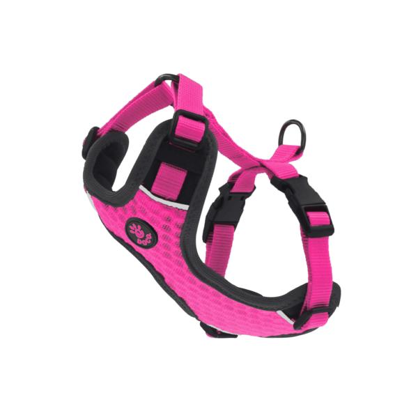 Doco Athletica 3D Airflow reguliuojamos rožinės petnešos šunims