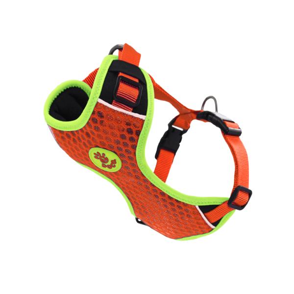 Doco Athletica 3D Airflow reguliuojamos oranžinės petnešos šunims