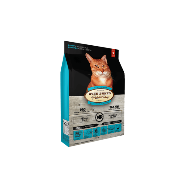 Oven Baked Tradition Adult Cat Fish sausas maistas katėms