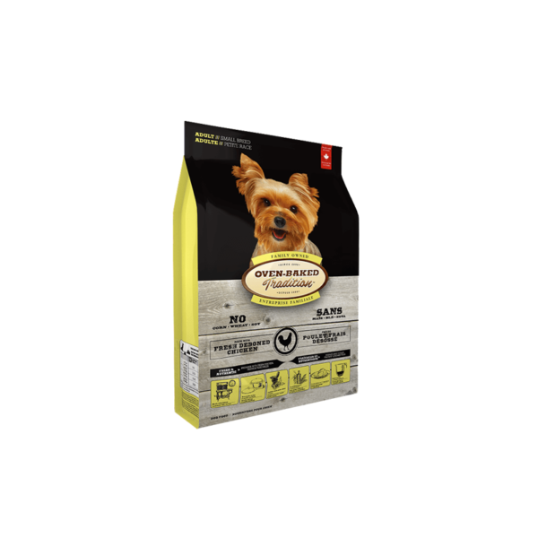 Oven Baked Tradition Adult Small Breed Chicken sausas maistas šunims 2.27 kg