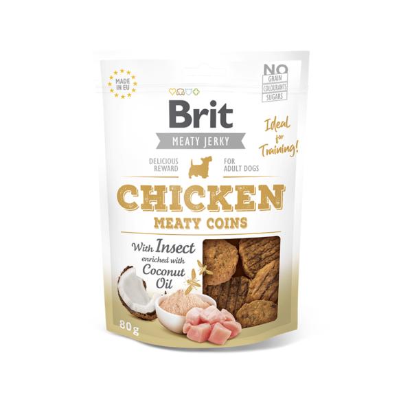Brit Jerky Chicken Meaty Coins skanėstai šunims 80 g