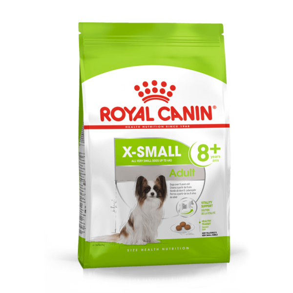 Royal Canin X Small Adult 8+ sausas maistas šunims 1.5 kg