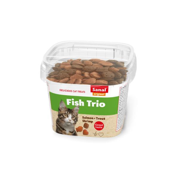 Sanal Fish Trio Cup pašaro papildas katėms