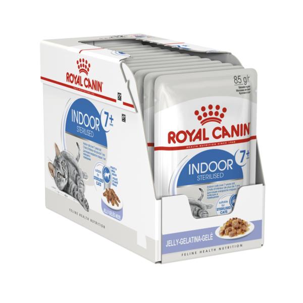 Royal Canin Indoor Sterilised 7+ konservai drebučiuose
