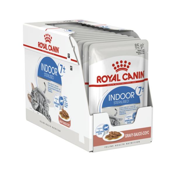 Royal Canin Indoor Sterilised 7+ konservai padaže