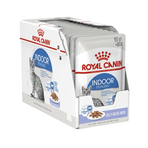 Royal Canin Indoor Sterilised konservai drebučiuose