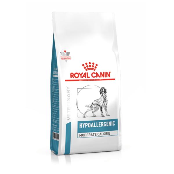 Royal Canin Hypoallergenic Moderate Calorie sausas maistas šunims 1.5 kg