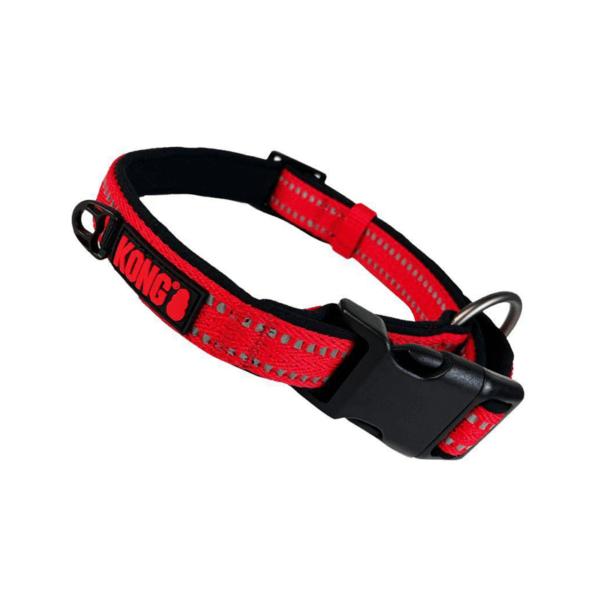 KONG Nylon Collar raudonas antkaklis šunims