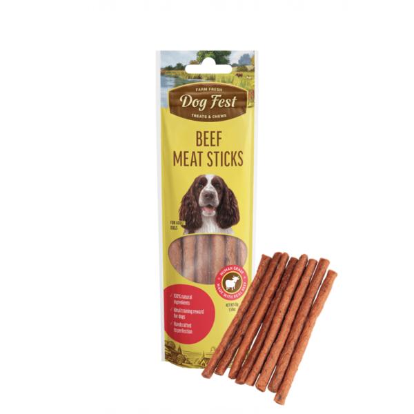 Dog Fest Beef Meat Sticks skanėstai šunims 45 g