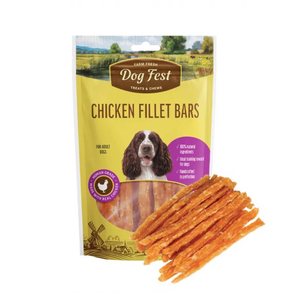 Dog Fest Chicken Fillet Bars skanėstai šunims 90 g