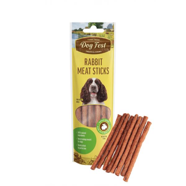 Dog Fest Rabbit Meat Sticks skanėstai šunims 45 g