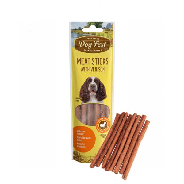 Dog Fest Venison Meat Sticks skanėstai šunims 45 g