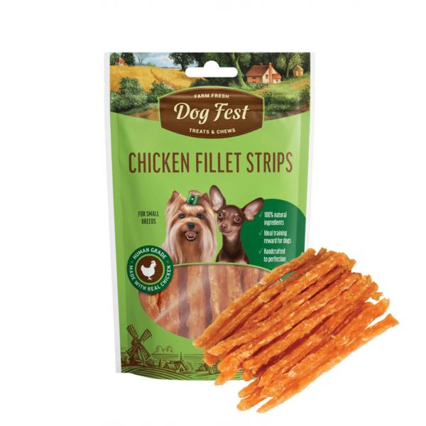 Dog Fest Chicken Fillet Strips skanėstai šunims 55 g